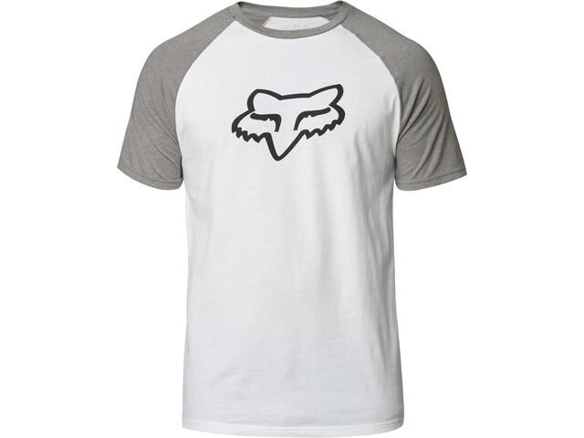 Fox Blocked Premium Camiseta Manga Corta Hombre, white/grey